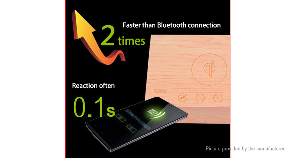 2-in-1 Qi Induction Wireless Charger Bluetooth V4.0 Heavy Bass Speaker