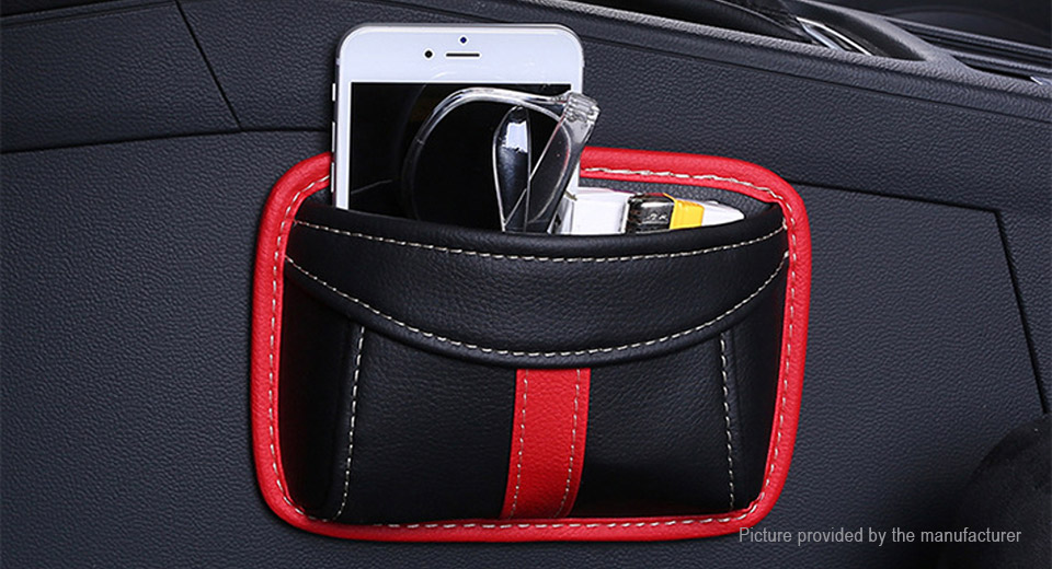 Paste Type Car Seat Crevice Organizer Storage Bag