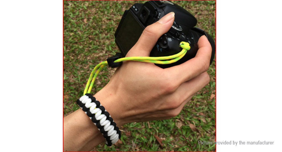 Outdoor Survival Emergency EDC Paracord Bracelet Camera Wrist Strap
