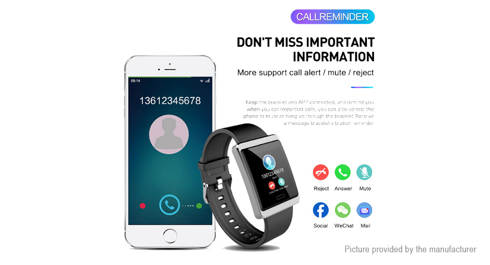 Y13 1.3'' IPS Touch Screen Sports Smart Bracelet Wristband