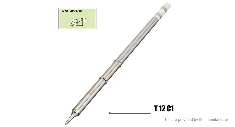 T12 Series Soldering Iron Tip for HAKKO Soldering Rework Station (4 Pieces)