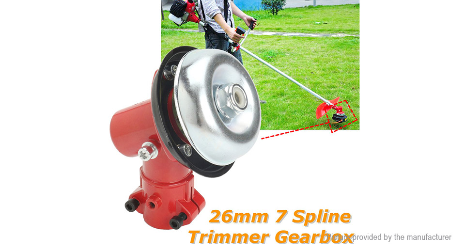 26mm 7 Teeth Brushcutter Head Gearbox Pole Saw Chainsaw Hedge Trimmer