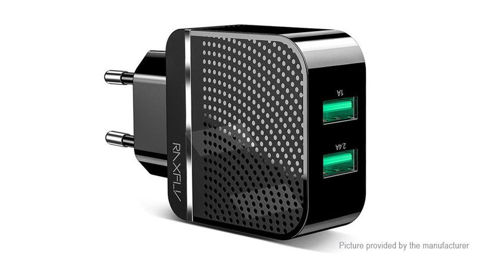 RAXFLY Dual USB Travel Wall Charger Power Adapter (EU)