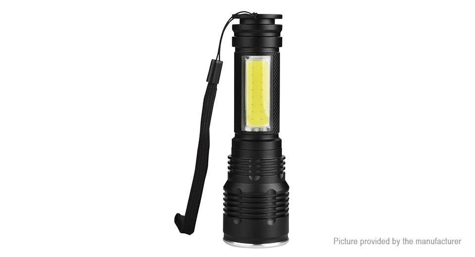 Yunmai 7006-COB LED Flashlight w/ Focus Zoom