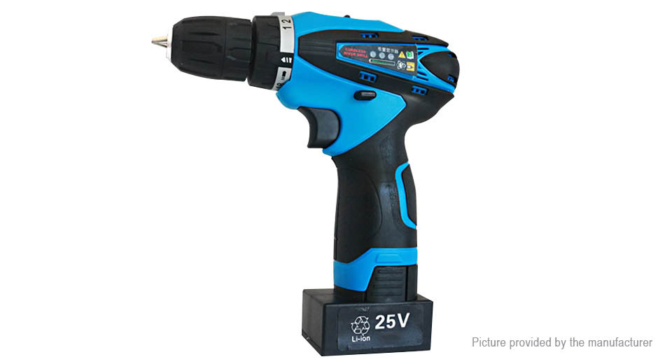 25V Dual Speed Cordless Electric Drill Power Tool (US)