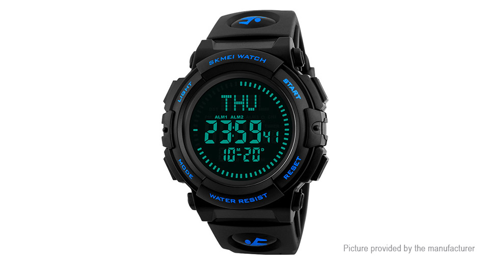 Authentic Skmei 1290 Men Silicone Band Sports Digital Wrist Watch