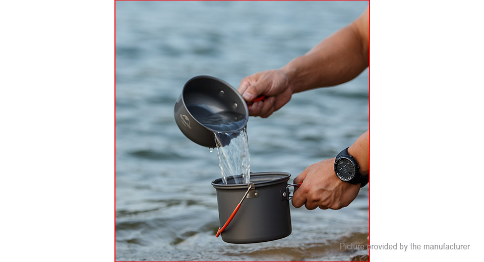 Naturehike 4-in-1 Aluminum Alloy Pots Set