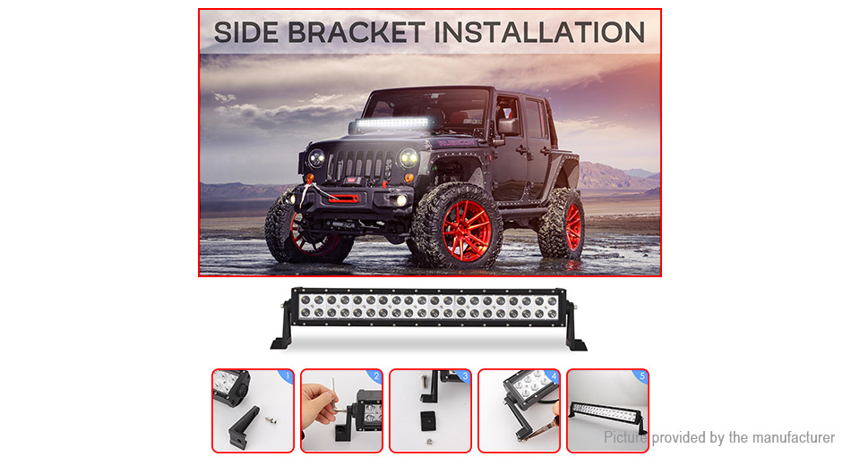 200W Car SUV Off-road Driving Work Light Bar LED Spotlight