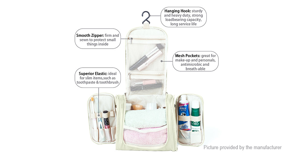 Portable Hanging Cosmetic Storage Bag Organizer Travel Toiletry Wash Bag