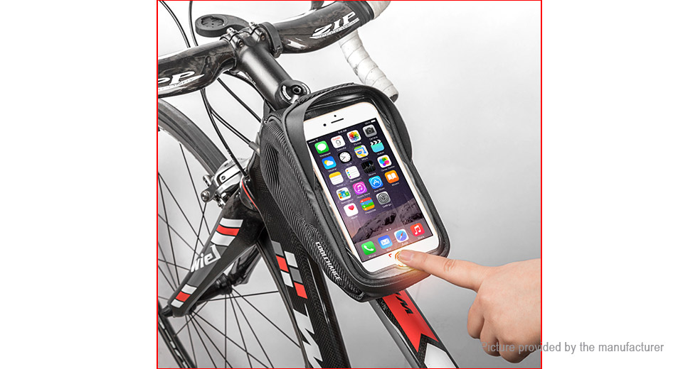 Coolchange Waterproof Bicycle Touch Screen Cell Phone Handlebar Bag