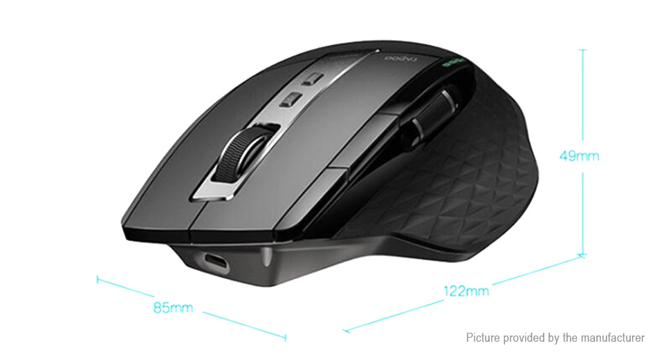 Authentic Rapoo MT750S Tri-mode 2.4GHz/Bluetooth V3.0/V4.0 Optical Mouse