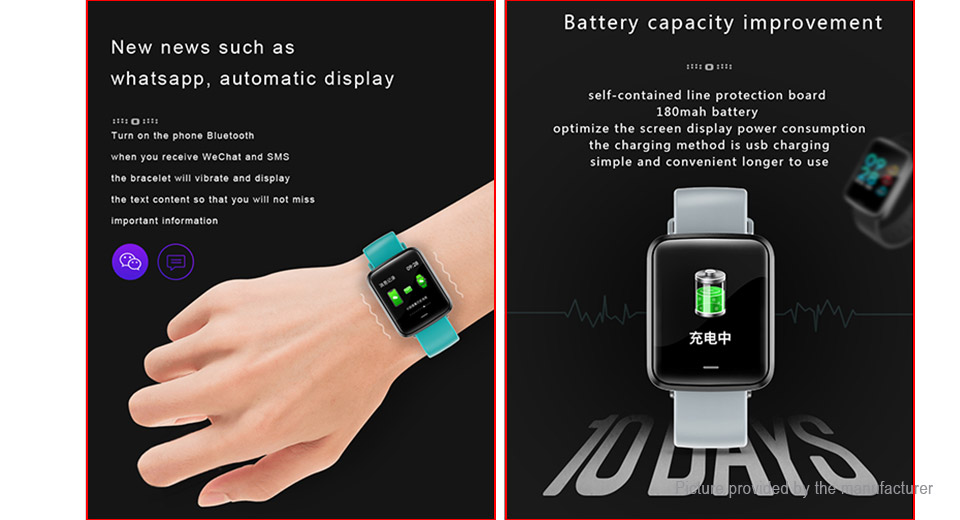 "H19 1.3"" Touch Screen Bluetooth V4.2 Sports Smart Watch"
