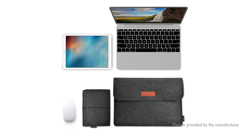 "12"" Felt Laptop Protective Sleeve Case Bag for Apple Macbook / iPad"