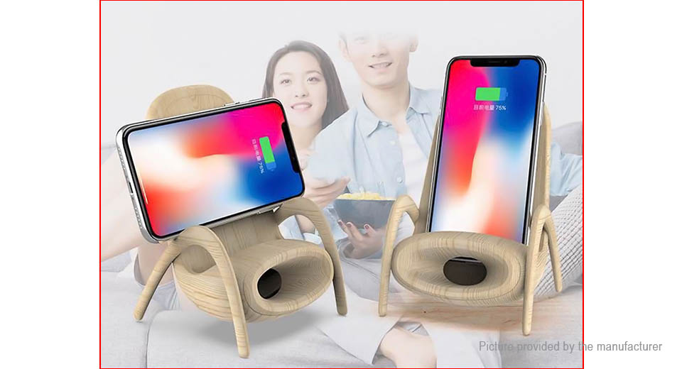 Mindzo F6 Creative Chair Style Qi Inductive Wireless Charger & Loudspeaker