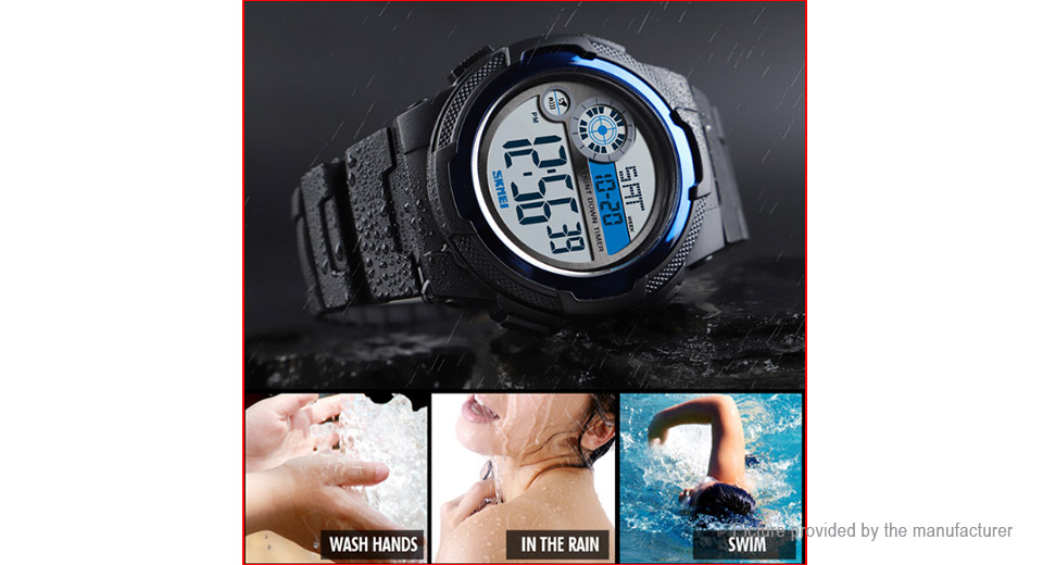 Authentic Skmei 1437 Unisex Silicone Band Sports Digital Wrist Watch