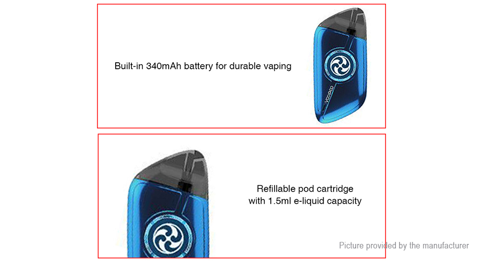 Authentic VOOPOO Rota Spinning 340mAh Pod System Starter Kit (Standard Edition)