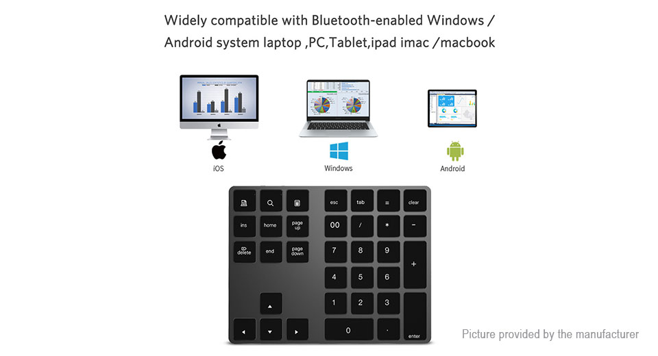 Mini Bluetooth V3 0 Numeric Keypad Keyboard