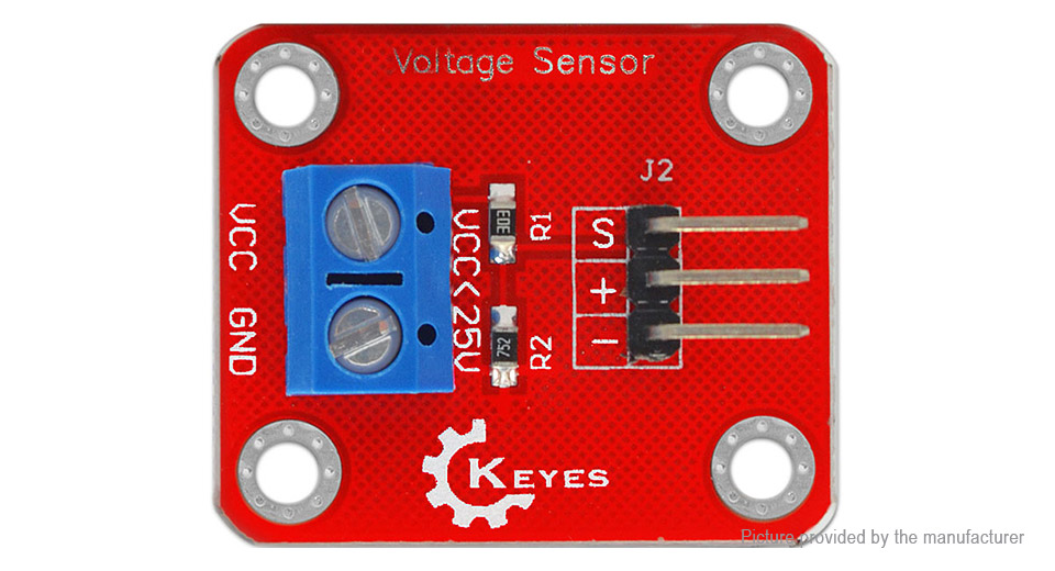 $1 66 KEYES Voltage Detection Sensor Module for Arduino at FastTech -  Worldwide Free Shipping