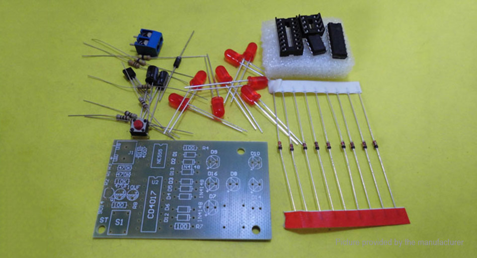 Led Dice Clock Circuit Board Included
