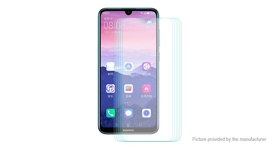 Hat.Prince 2.5D Tempered Glass Screen Protector for Huawei Enjoy 9 (5-Pack)