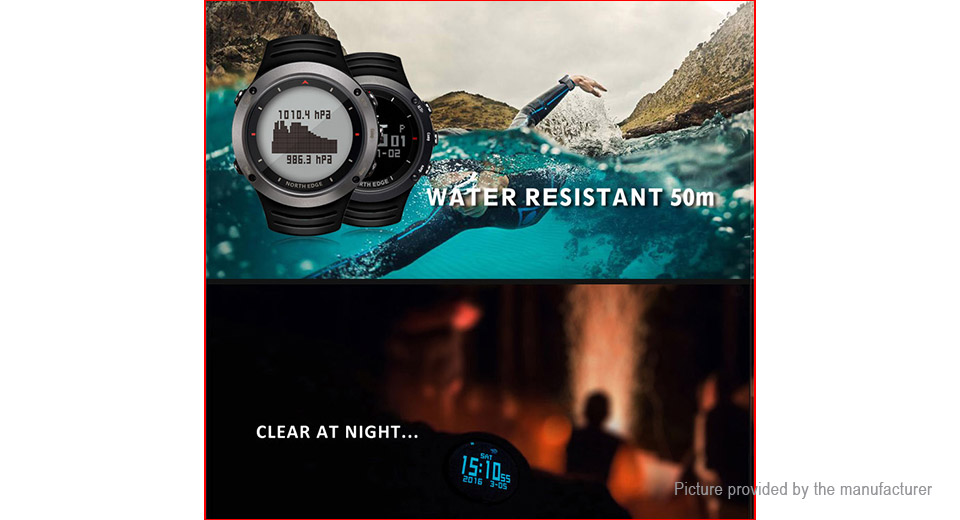 Authentic NORTH EDGE ALTAY2 Outdoor Sports Digital Wrist Watch