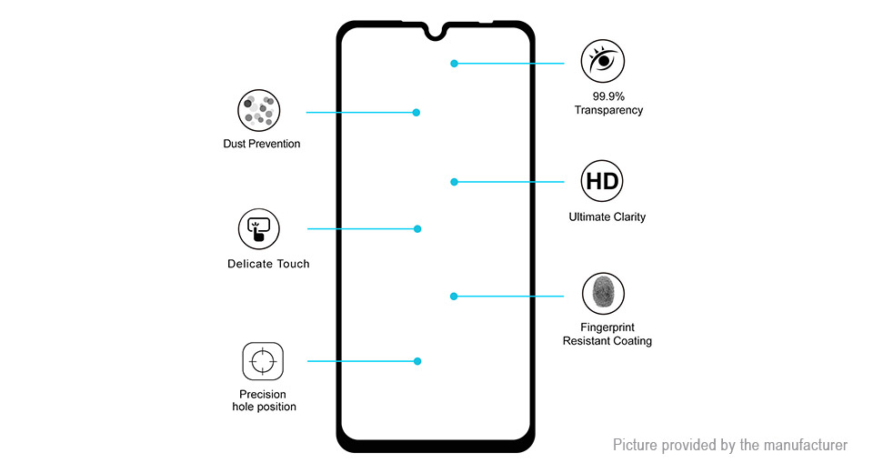 Hat.Prince 2.5D Tempered Glass Screen Protector for Xiaomi Redmi Note 7