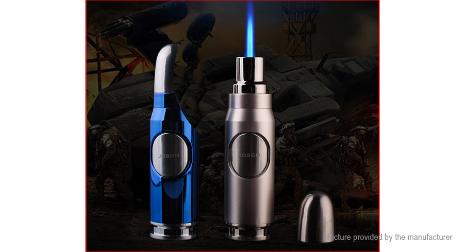 JOBON ZB596 Bullet Shaped Windproof Refillable Butane Gas Lighter