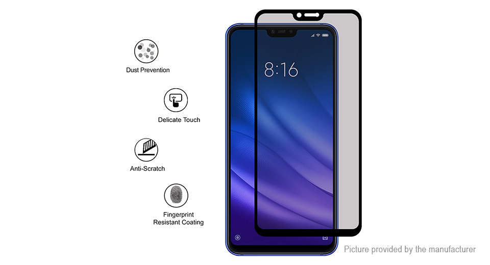 Hat.Prince Tempered Glass Privacy Screen Protector for Xiaomi Mi 8 Youth Edition