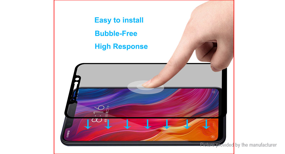 Hat.Prince 2.5D Tempered Glass Privacy Screen Protector for Xiaomi Mi 8