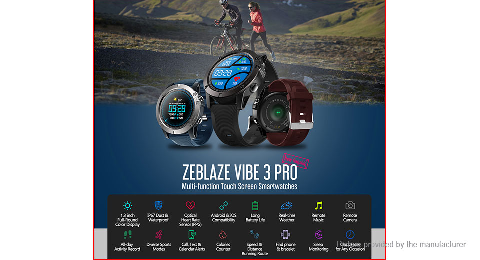 "Zeblaze VIBE 3 Pro 1.3"" IPS Sports Smart Watch"
