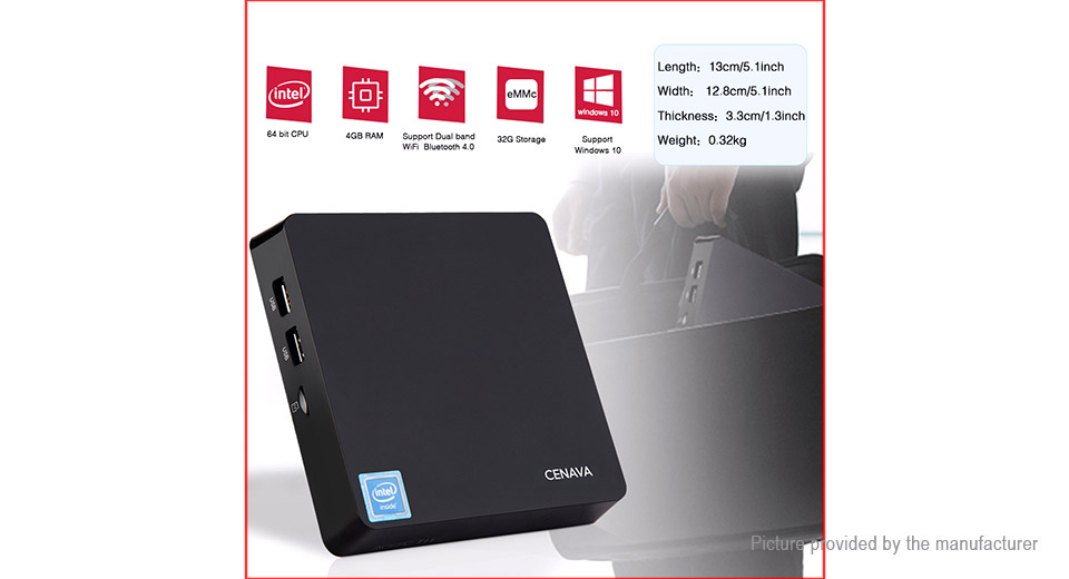CENAVA T11 Quad-Core Mini PC (32GB/US)