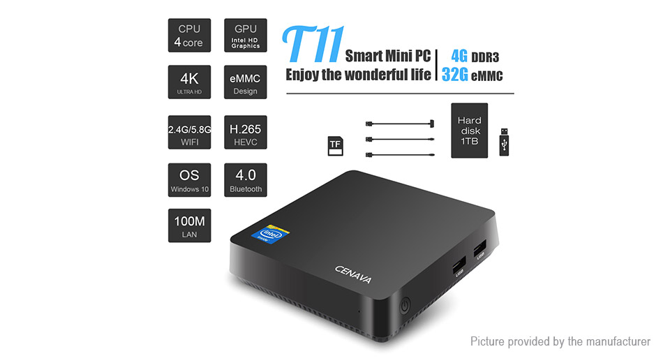 CENAVA T11 Quad-Core Mini PC (64GB/EU)