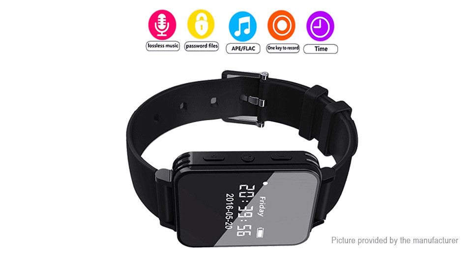 "V81 1.1"" OLED Watch Digital Audio Recorder MP3 Player"