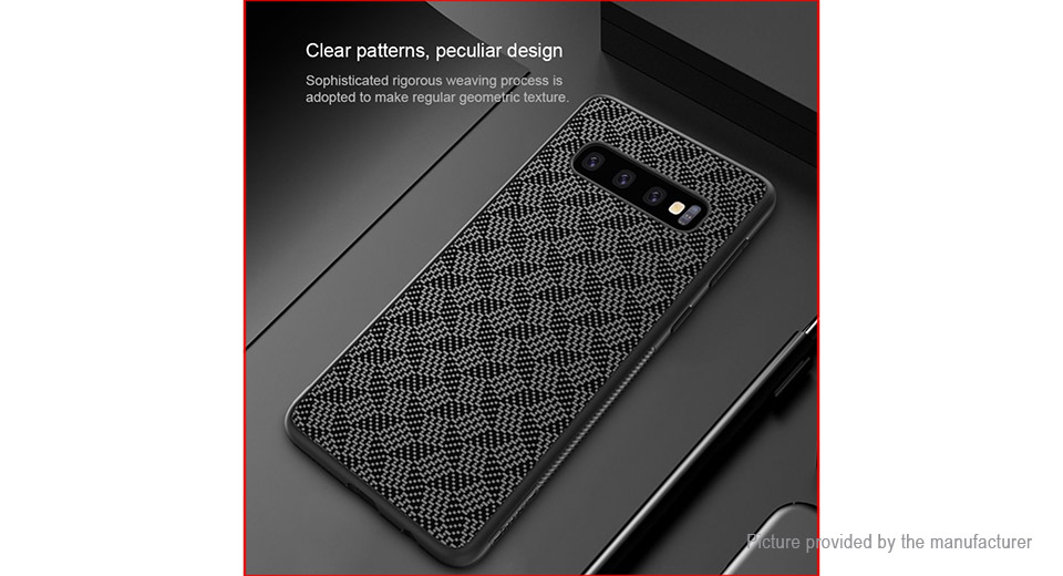 Nillkin Synthetic Fiber PC Protective Back Case for Samsung Galaxy S10 Plus