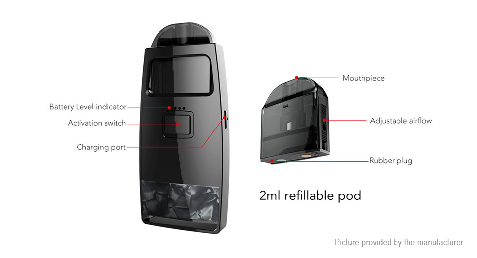 Authentic Pioneer4You iPV Aspect 750mAh VW Pod System Starter Kit