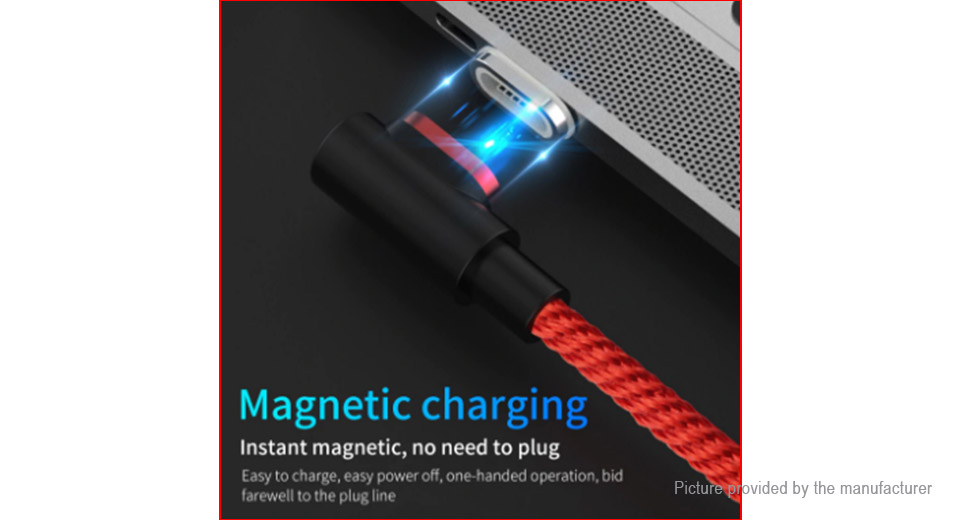 USB-C to USB 2.0 Braided Magnetic Data & Charging Cable (100cm)