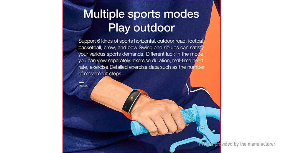 "C20 0.96"" TFT Touch Screen Bluetooth V4.0 Sports Smart Bracelet Wristband"