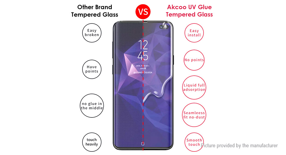 UV Liquid Full Glue Tempered Glass Screen Protector for Samsung Galaxy S10+