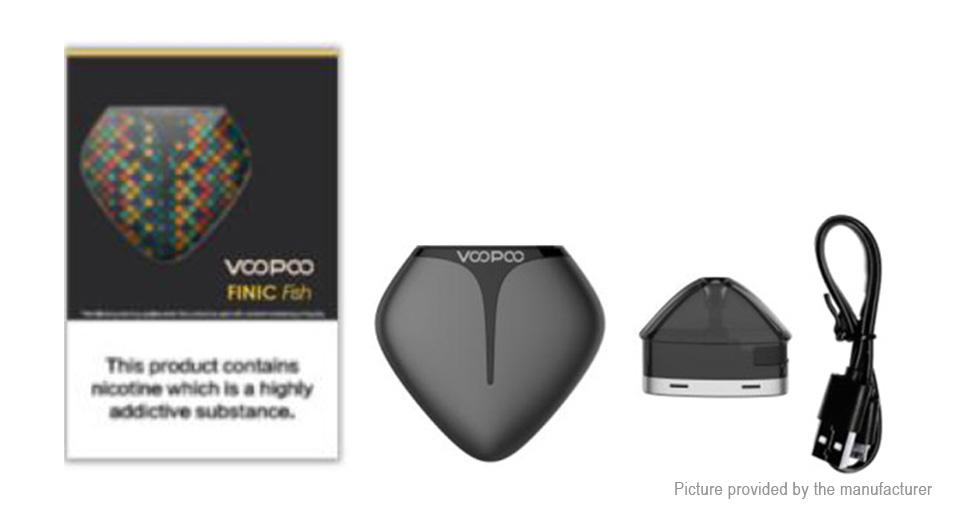 Authentic VOOPOO FINIC Fish 350mAh 12W Pod System Starter Kit (Standard Edition)