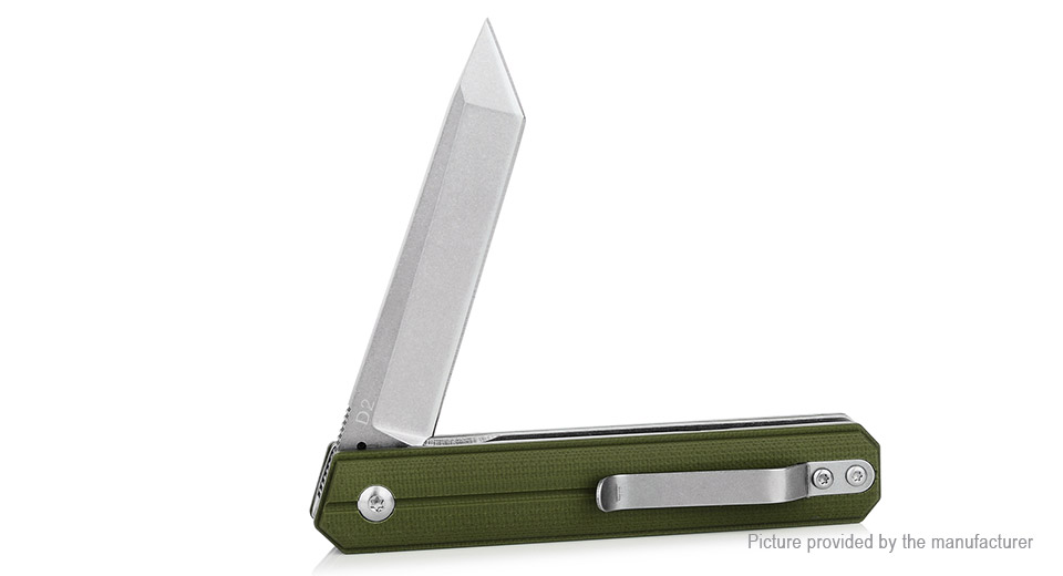 FURA·GEAR Outdoor Survival D2 Steel Folding Knife