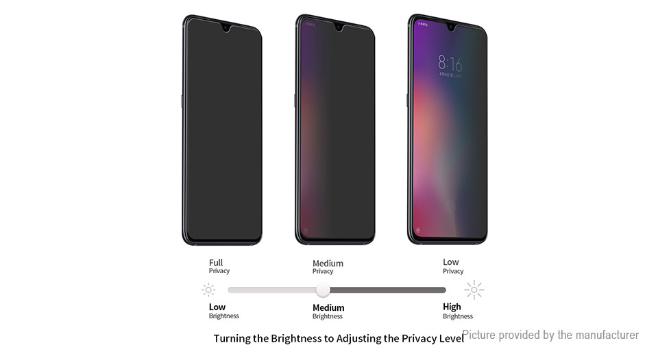 Hat.Prince 2.5D Tempered Glass Privacy Screen Protector for Xiaomi Mi 9 SE