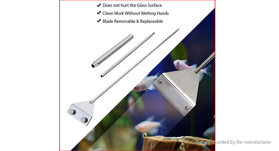 65cm 3-Section Stainless Steel Algae Remover Aquarium Maintenance Tools