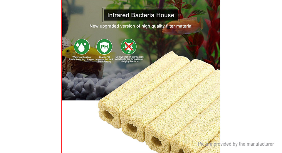 Far Infrared Bacteria House Filter Media for Trickle Filter / Aquaculture / Pond (5-Pack)