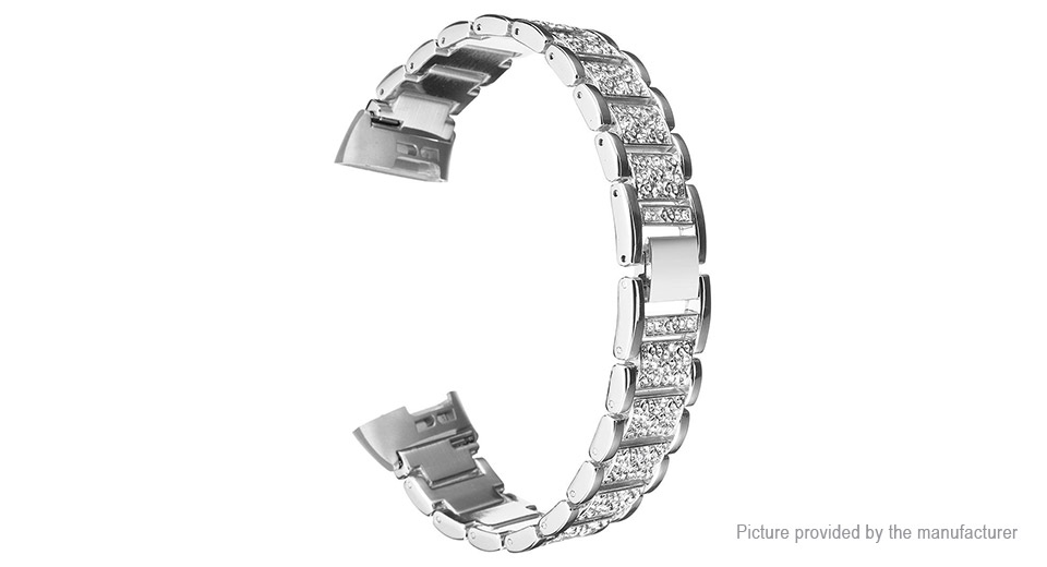 Product Image: crystal-embedded-stainless-steel-watchband-strap