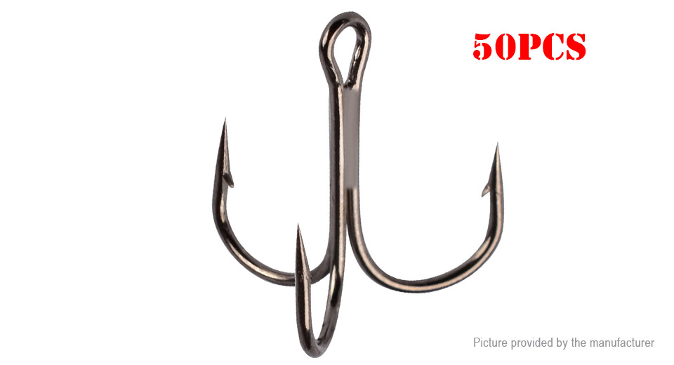 Product Image: 2-high-carbon-steel-barbed-treble-hook-fishing