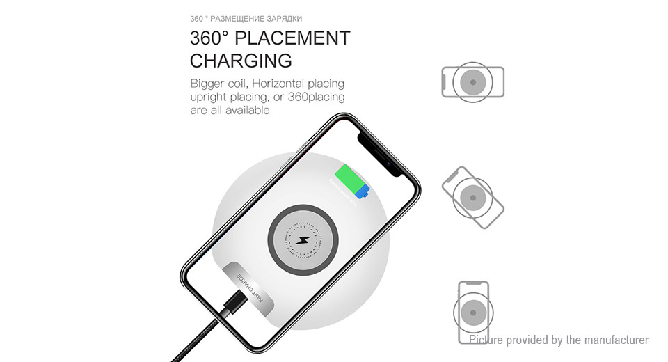10W Qi Induction Wireless Charger Transmitter