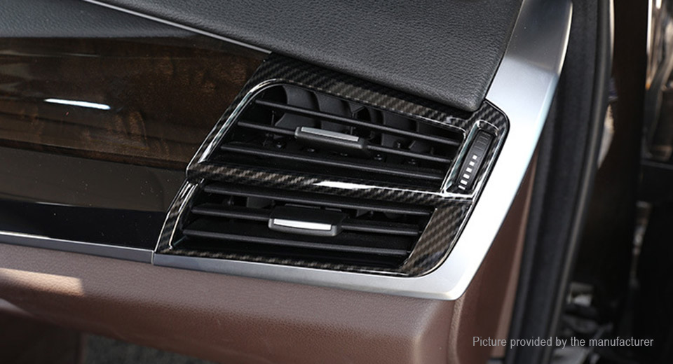 Left Right Side Air Condition Outlet Carbon Fiber Pattern Decorative  Sticker for BWM