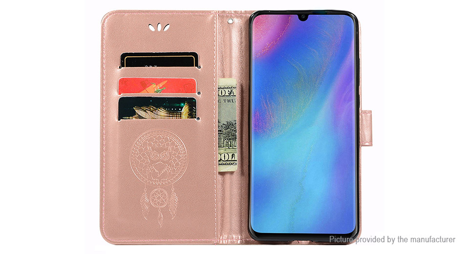 Hat.Prince PU + TPU Flip-open Protective Stand Case Cover for Huawei P30 Pro