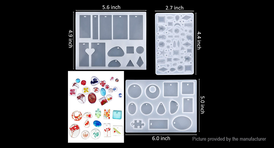 Charm Crystal Pendant Jewelry Casting Mold DIY Jewelry Craft Making Tool Kit