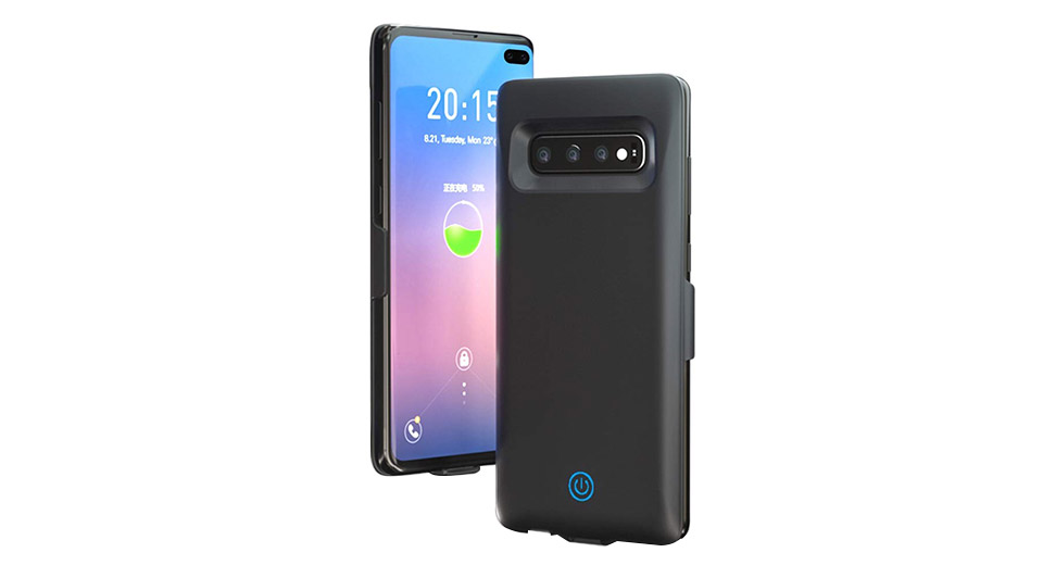 Rechargeable External Battery Back Case for Samsung Galaxy S10 Plus (6000mAh)